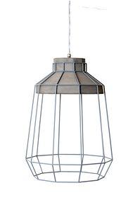 Settenani SE688N7, Lampada a sospensione per interni, in cemento e filo metallico