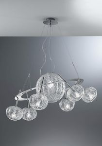 Sfera Rs408-015, Lampadario in cristallo Baloton, dal design originale