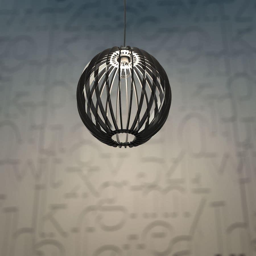 lampadari in plexiglass : Lampada a sospensione in plexiglass, montaggio ad incastro IDFdesign