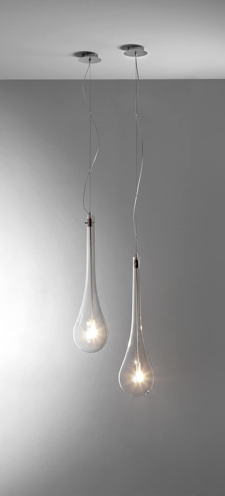 Lampade a forma di goccia da soffitto o parete idfdesign - Lampada bagno soffitto ...