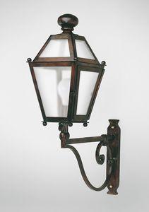 CHIANTI GL3009AR-1UP, Lanterna in ferro con braccio, per esterni