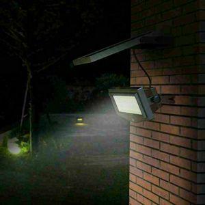 Faretto A Muro Luce Led Solare Giardino Sensore Movimento FLEXIBLE NEW, Faretto a muro con pannello fotovoltaico