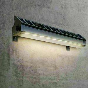 Lampada Solare A Luci Led Illuminazione Per Cartelloni Pubblicitari E Parete BILLBOARD, Lampada a led per esterni con pannello solare