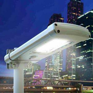 Lampione A 24 Led Solare Crepuscolare Strada E Giardino STREET, Lampione per esterni con sensore crepuscolare
