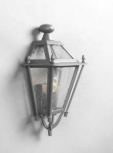 LUNGARNO GL3007WA-1S, Mezza lanterna in ferro per esterni