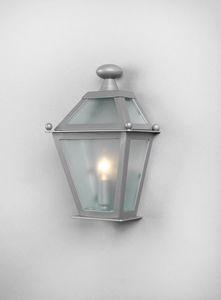 LUNGARNO GL3007WA-1SIMPLE, Mezza lanterna con vetri zincati