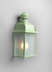 MANZI GL3025WA-1, Lanterna in ferro con vetro trasparente