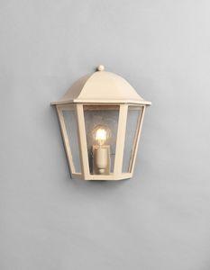MARMI GL3014WA-1S, Mezza lanterna in ferro color beige