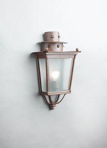 MOROZZI GL3027WA-1, Mezza lanterna in ferro con finitura ruggine