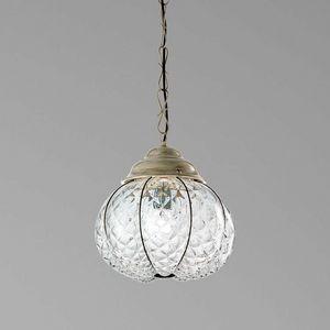 San stae Es416-030, Elegante lampadario da esterno, in cristallo Baloton