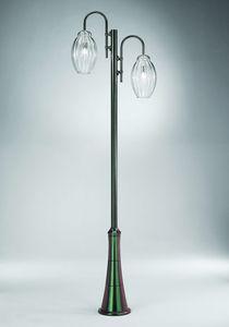Sfera Ep362-300, Lampione con due diffusori in vetro