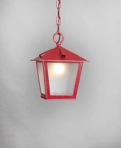 TOSCANA GL3029CH-1, Lanterna a catena in ferro rosso
