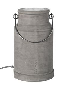 Via Lattea HP127 1G, Lampada da terra, a forma di secchio per il latte, in cemento