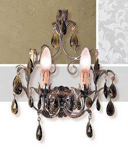 A.6665/2, Lampada da parete con finiture in foglia argento