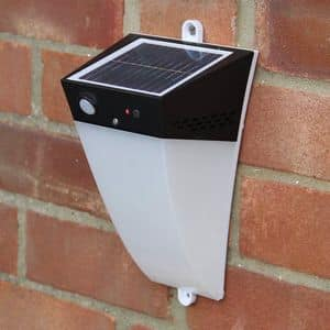 Applique lampada led solare giardino Alarm - LA010LED, Lampada da muro con allarme e sensore di movimento
