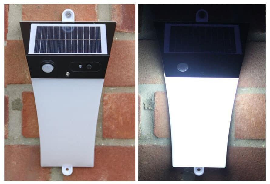 Plafoniere Da Esterno Con Sensore Di Movimento : Lampada da muro con allarme e sensore di movimento idfdesign