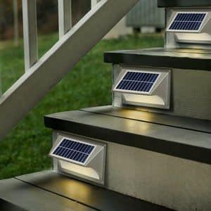 Applique lampada solare led SHARK - LA004LED, Lampada da parete ad energia solare, facile da installare