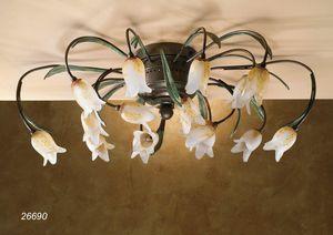 Art. 26690 Butterfly, Plafoniera artigianale dal design classico