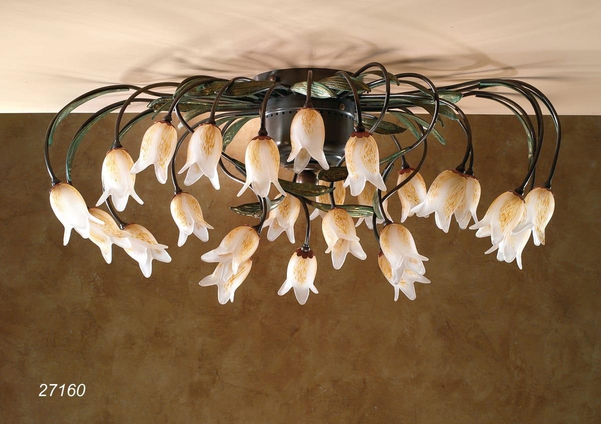 Plafoniere Vetro Di Murano Prezzi : Plafoniera con fiori in vetro di murano idfdesign