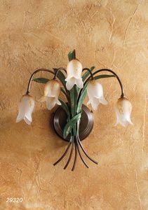 Art. 29320 Butterfly, Lampada da parete a cinque luci