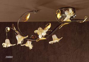 Art. 29880 Jolie, Plafoniera classica in vetro e ottone