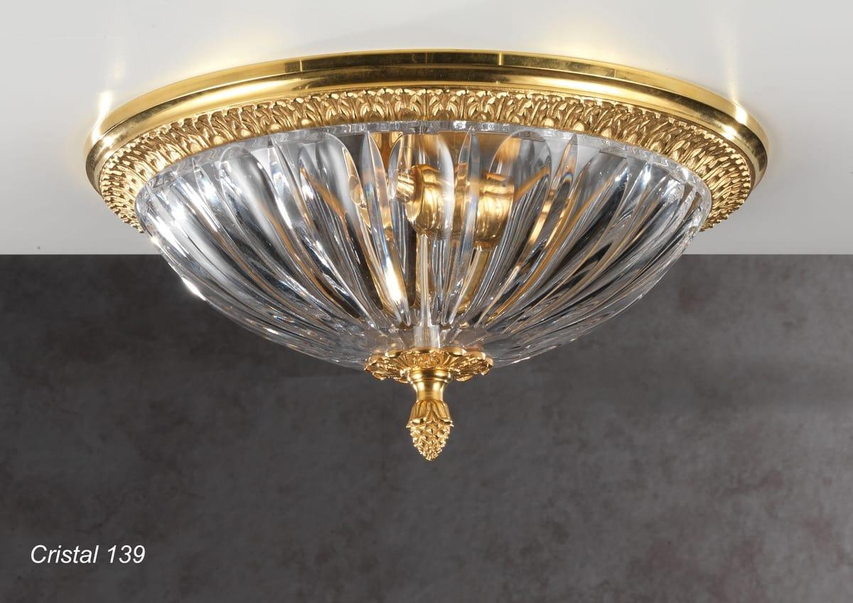 Plafoniere In Cristallo Miglior Prezzo : Plafoniera con coppa in cristallo molato idfdesign