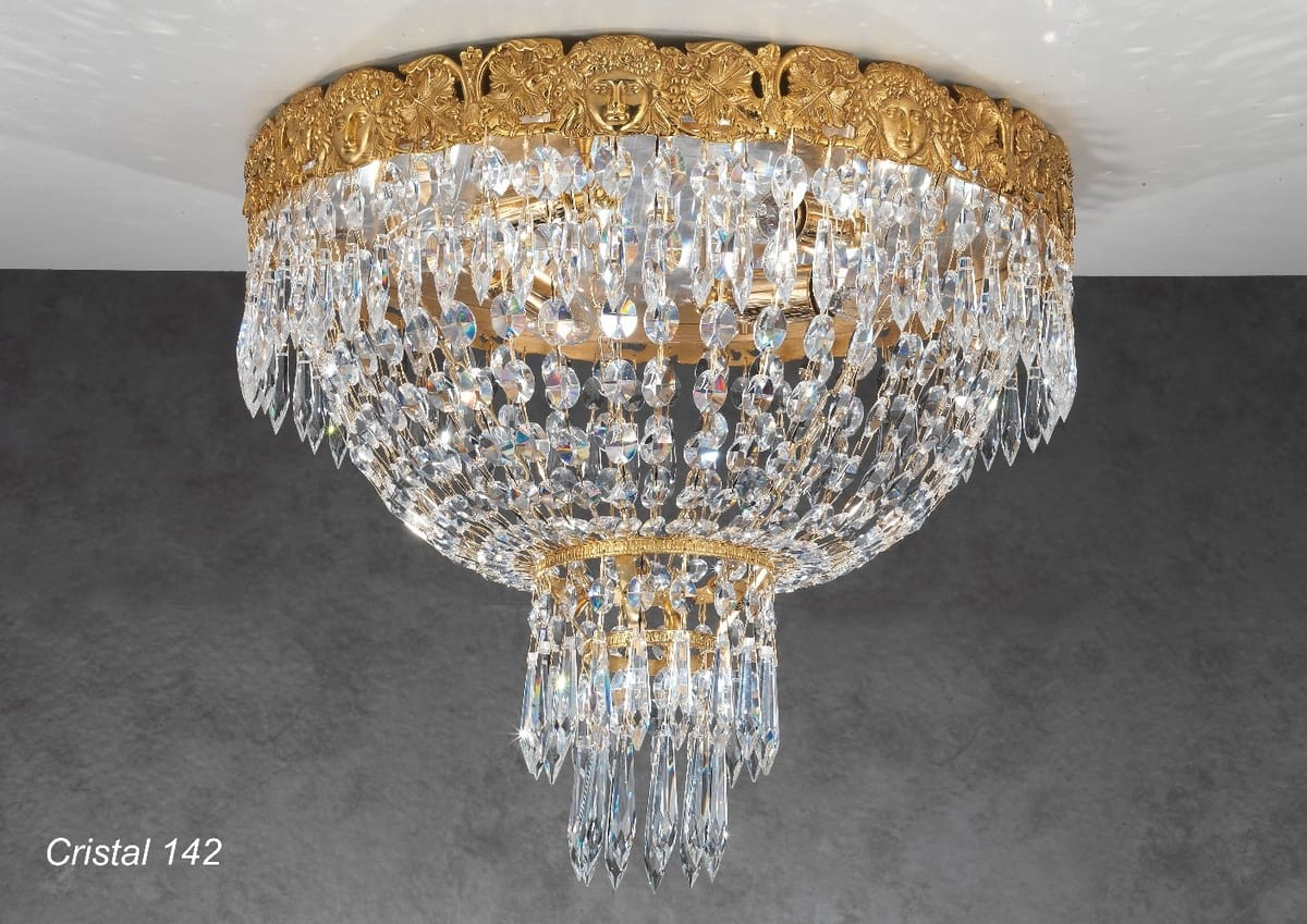 Plafoniere Con Cristalli : Lussuosa plafoniera con pendagli in cristallo idfdesign