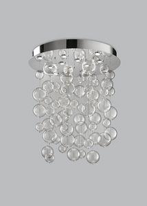 BOLERO H 110, Lampadario con sfere in vetro soffiato