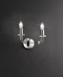 CALLE L 30, Applique da muro, forma doppia candela