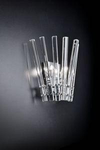 CIRCLE L 27, Applique da muro in cristallo trasparente