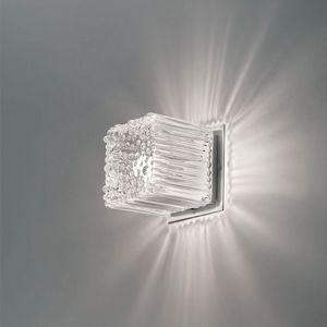 Cubetto La609-015, Applique a forma di cubo in vetro soffiato