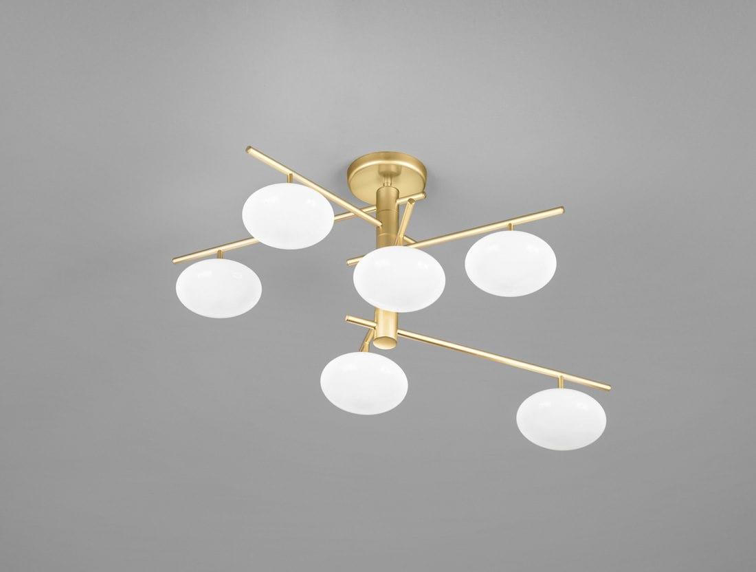 Plafoniere Con Pendenti : Plafoniera con sfere in vetro idfdesign