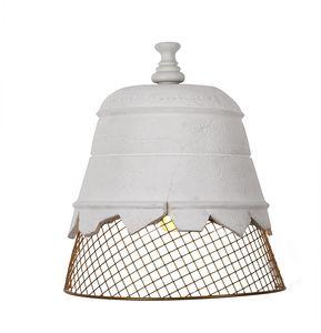 Domenica AP102, Lampada da parete, in gesso e rete metallica