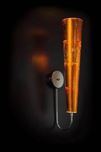 GOLD FIRE L 18, Applique da muro foglia arancione
