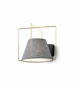 Kengo, Lampada da parete in tessuto e metallo