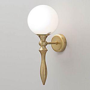 L3213, Lampada da parete con diffusore a sfera in vetro