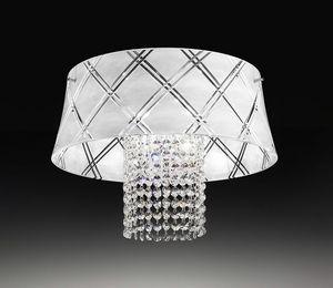 MEDUSA � 40, Plafoniera con pendenti in cristallo molato