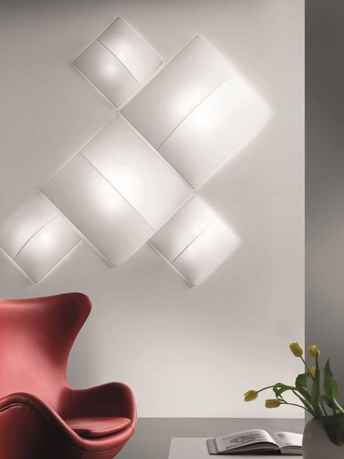 Nelly nelly straight collezione di plafoniere tonde o quadrate idfdesign - Lampade da parete design ...