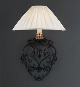 ORCIO HL1030WA-1, Lampada da parete in ferro con paralume in tessuto