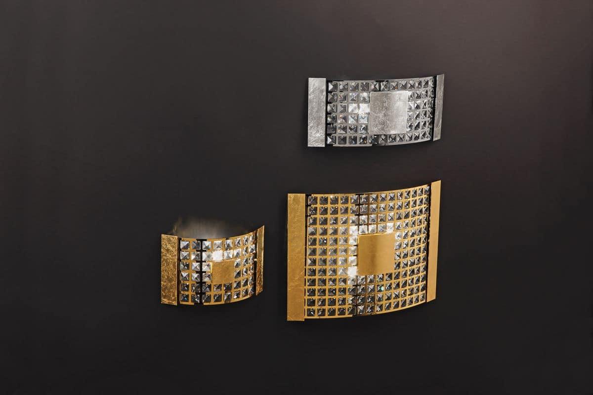 Party a applique moderna in cristallo ideale per for Applique da parete moderni