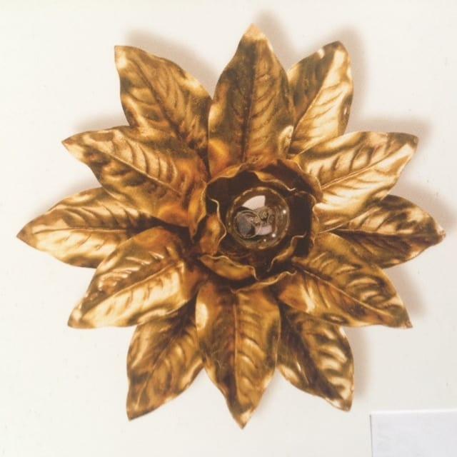 PL.2130/1, Plafoniera con decorazione foglia oro