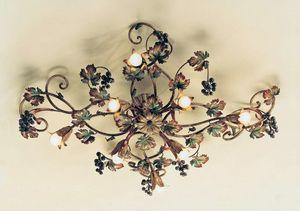 PL.5785/8, Plafoniera con decorazione autunnale