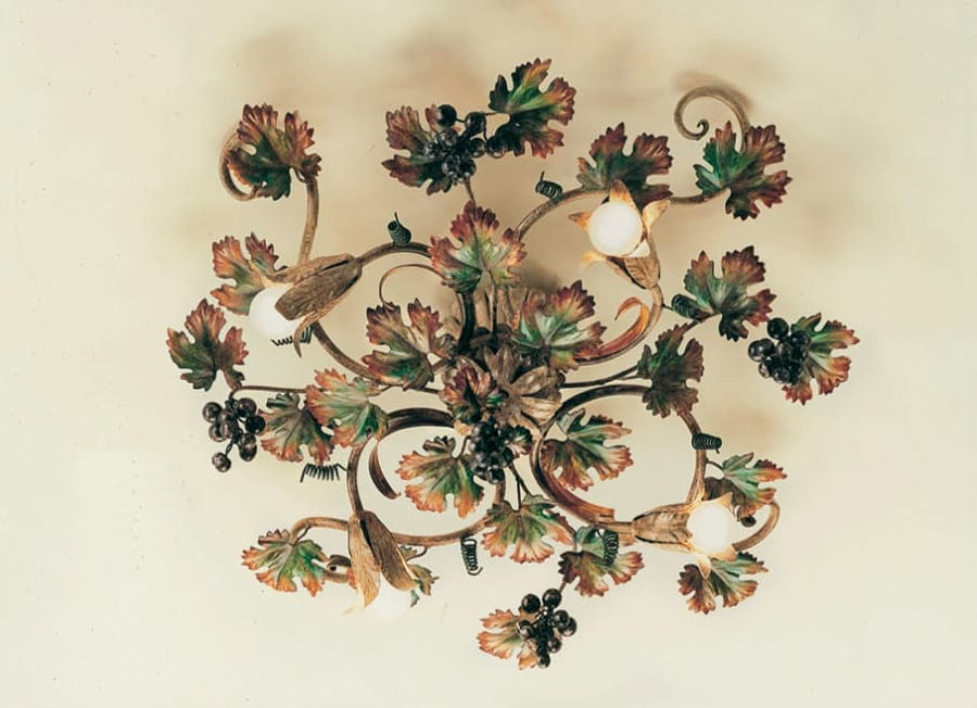 Plafoniera Ferro Battuto Nero : Plafoniera in ferro battuto decorazioni autunnali idfdesign