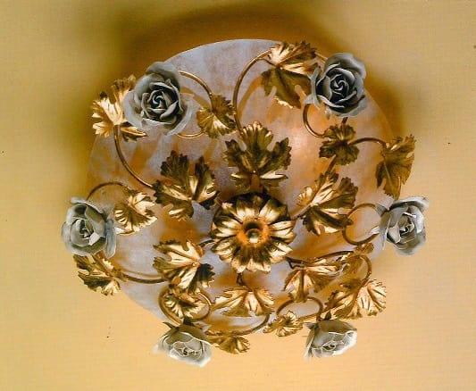 Plafoniere Da Esterno Antiche : Plafoniera con decorazioni in bianco antico idfdesign