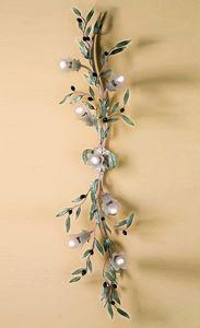 PL.6685/7, Lampada da muro con forma di ramo d'olivo