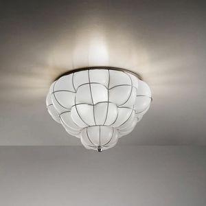 Pouff Rc383-035, Plafoniera in vetro ambra o bianco
