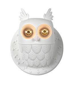 Ti.vedo AP105 1B INT, Lampada applique a forma di gufo, in ceramica