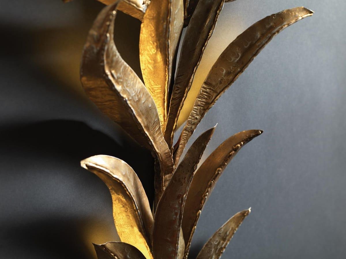 Plafoniere Con Foglie : Applique con foglie in ferro e paralumi idfdesign