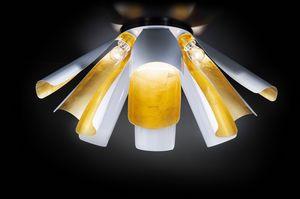 TROPIC � 100, Plafoniera in foglia oro