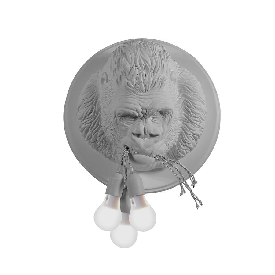 Ugo Rilla AP152, Lampada a forma di gorilla, realizzata in ceramica